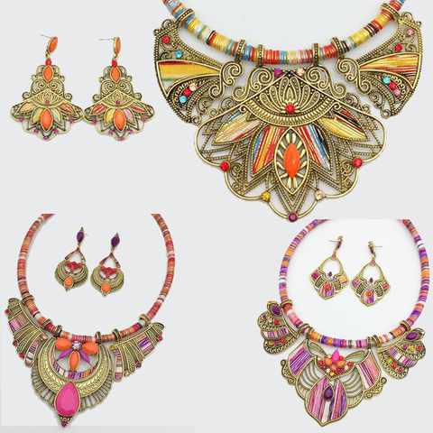 Tribal Choker & Earring Sets