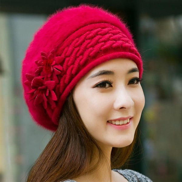 Floral Beret Beanies