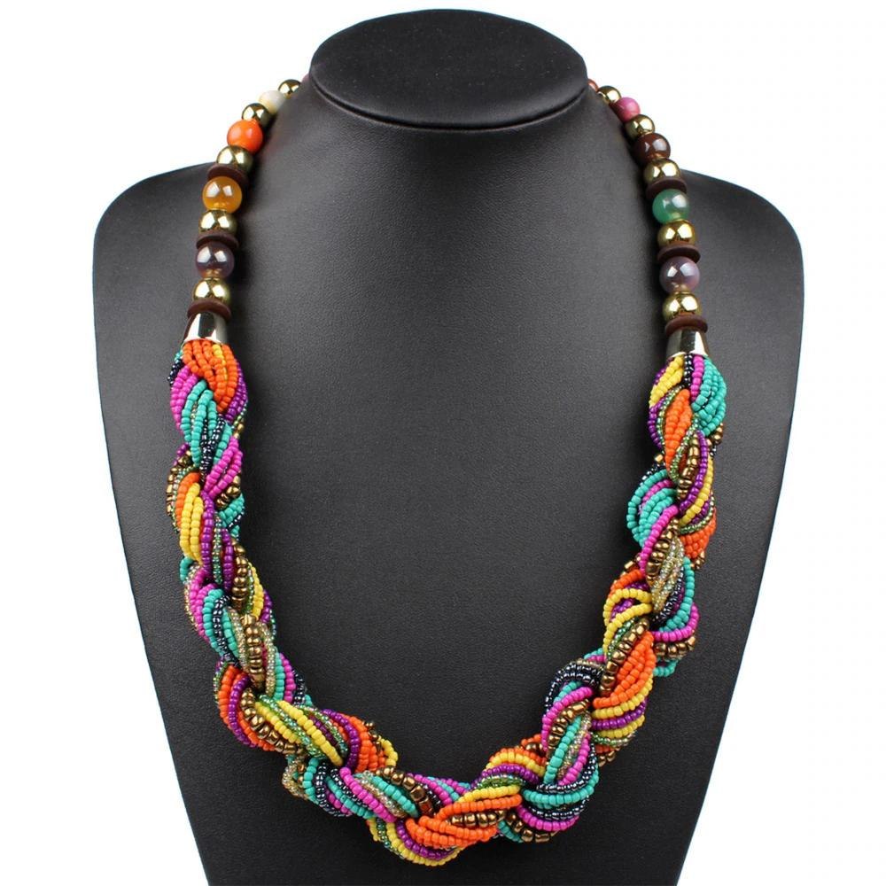 Summer Twist Bead Necklaces