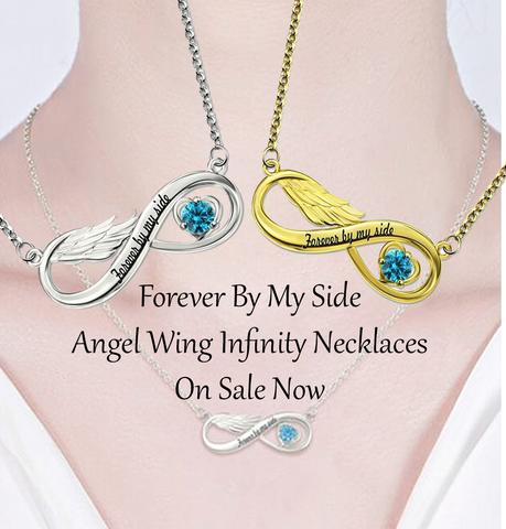 Custom Angel Wing Infinity Necklaces