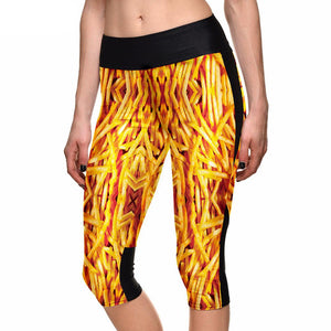 French Fries Capri Leggings