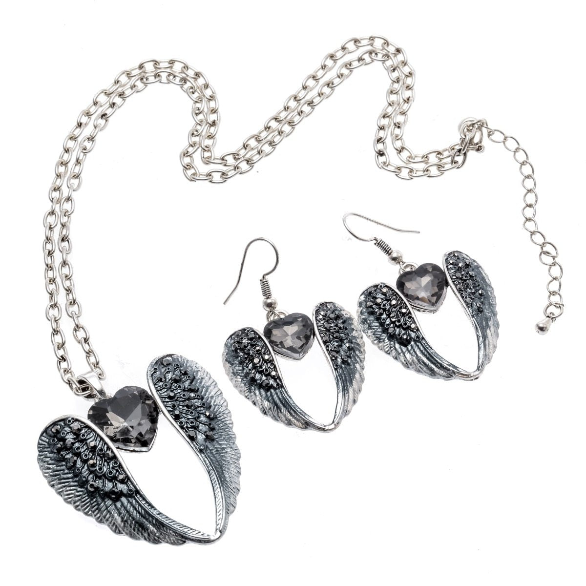 Guardian Angel Necklace & Earring Set