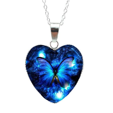 Magical Butterfly Heart Pendants