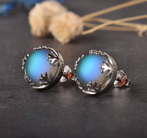 Moonlight Aurora Silver Earrings