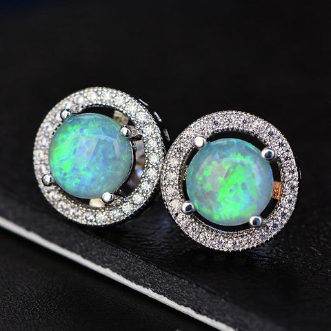 Mystical Opal Stud Earrings
