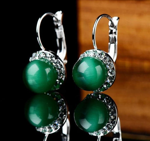 Green Opal Stone Earrings