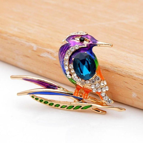 Colourful Hummingbird Brooches