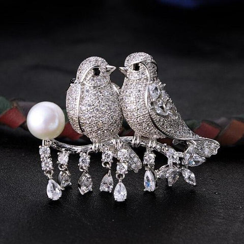 Exquisite Bird Branch Brooches