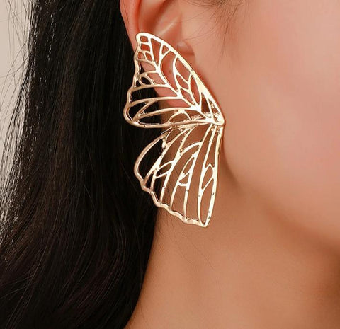 Statement Butterfly Wing Earrings