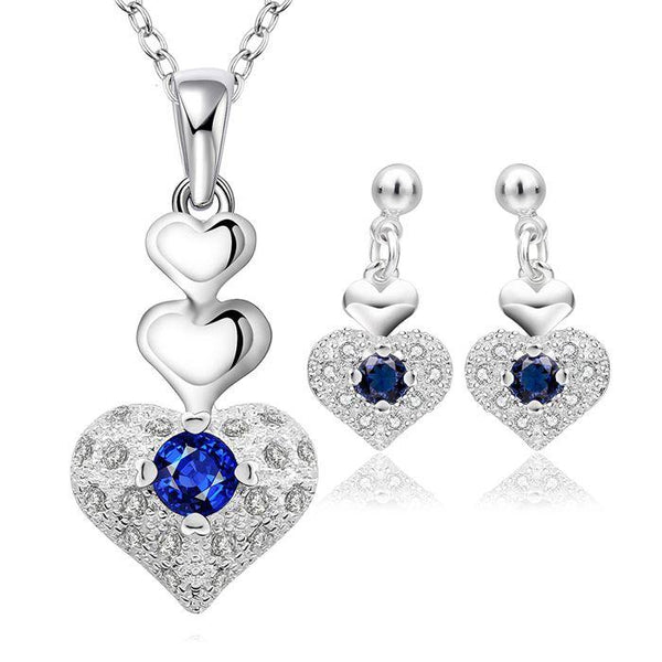 Heart Drop Jewelry Set