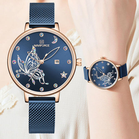 Ladies Ultra Thin Butterfly Inspired Watches