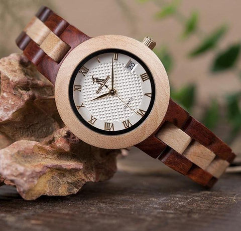 Two Tone Ladies Wood Watches