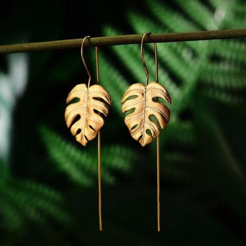 Beautiful Monstera Leaves Earrings