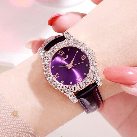 Crystal Leather Luxury Watches