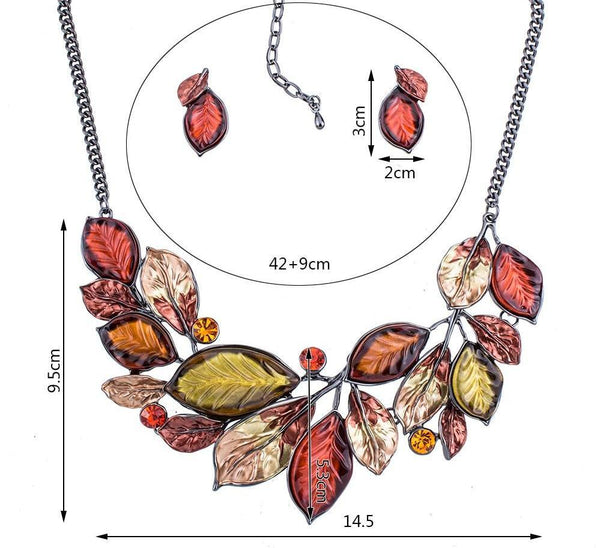 Autumn Leaf Glaze Jewelry Sets