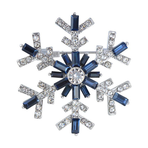 Crystal Christmas Gem Snowflake Brooches