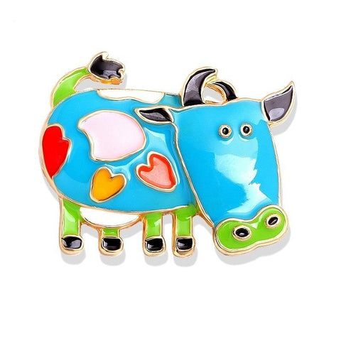 Colorful Cow Brooches