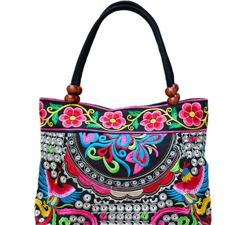Beautiful Boho Indian Embroidered Handbag