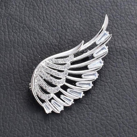Crystal Angel Wing Brooches