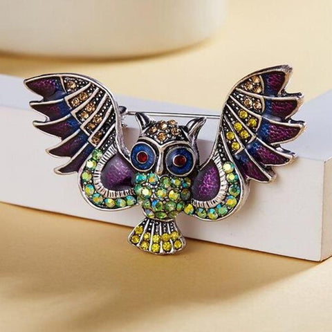 Flying Owl Brooches
