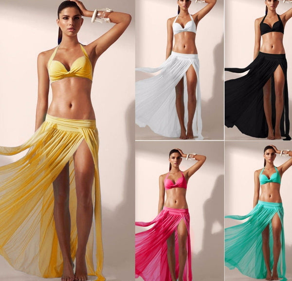 Bikini Split Skirt Cover Up