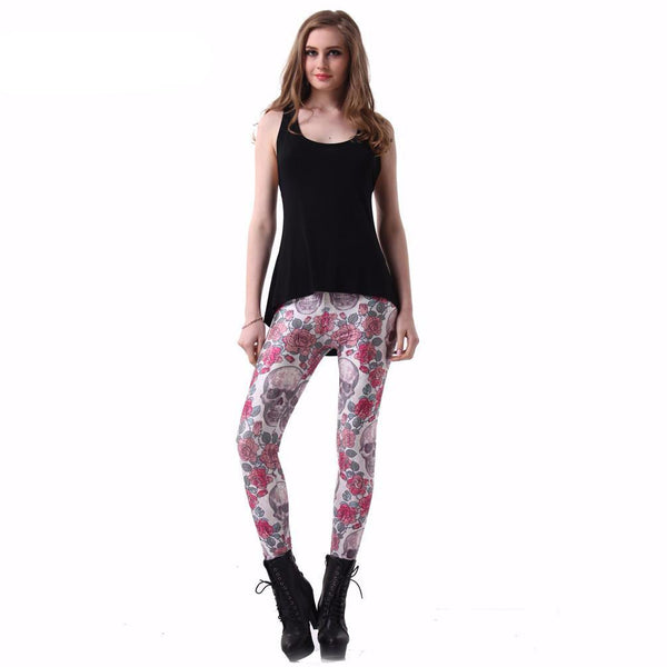 Roses & Skulls Leggings