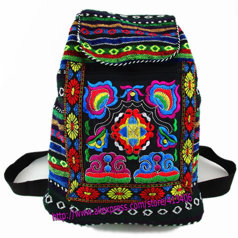 Tribal Ethnic Bohemian Embroidered Backpack
