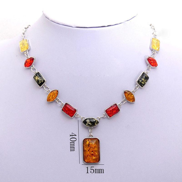 African Amber Jewelry Set