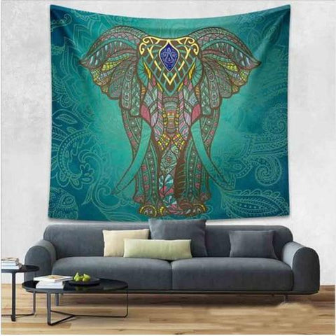 Bohemian Ceremonial Indian Elephant Tapestry