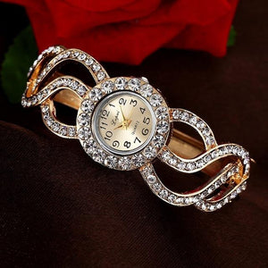 Swirl Styled Luxury Wristwatch