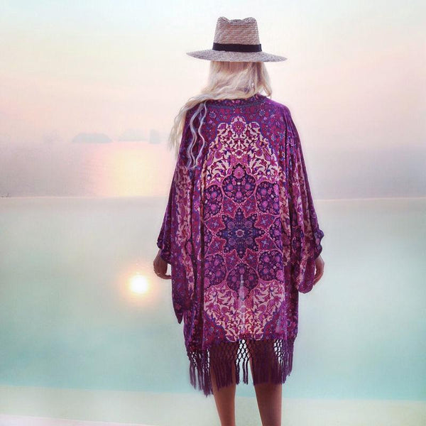 Boho Purple Passion Cover Up