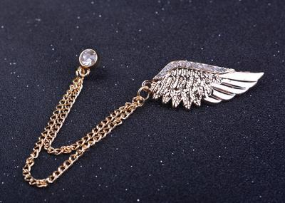 Angel Wing Link Chain Brooches