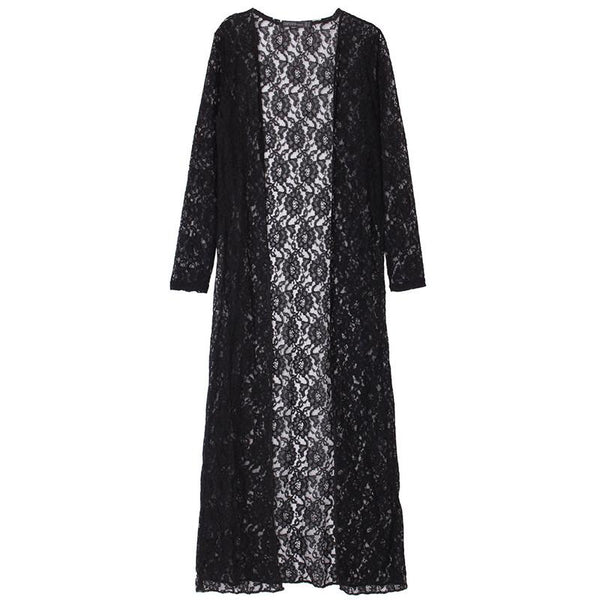 Loose Laced Long Cardigans