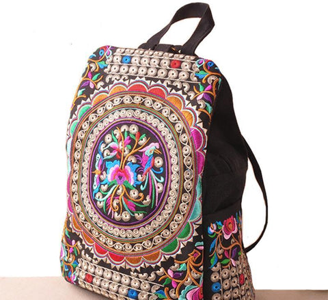 Beautiful Boho Indian Floral Backpack