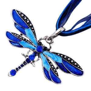 Retro Silver Dragonfly Pendants