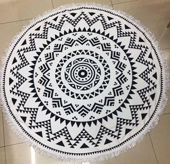 Black & White Tribal Beach Towel