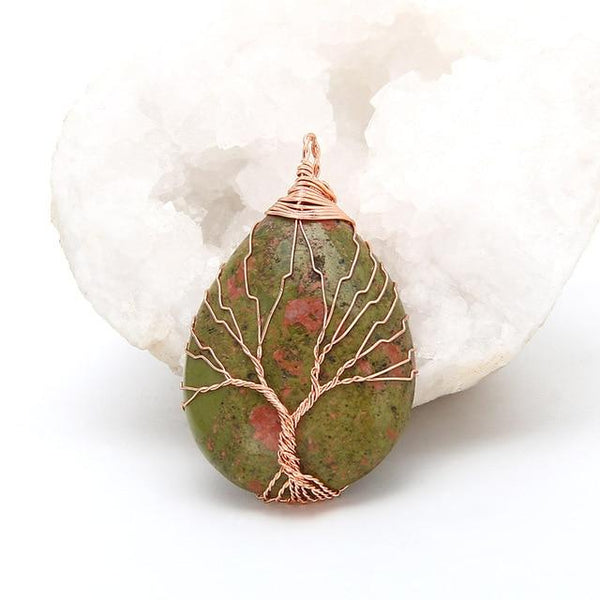 Tree of Life Opal Drop Pendants