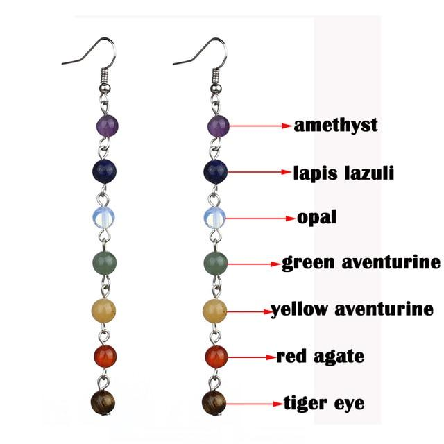 Chakra Drop Bead Earrings