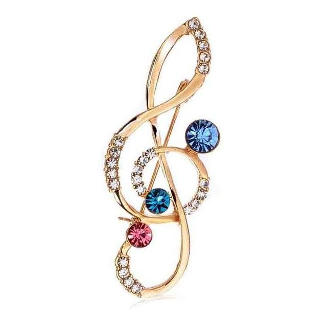 Treble Clef Music Brooch