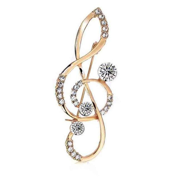 Music Note Brooch