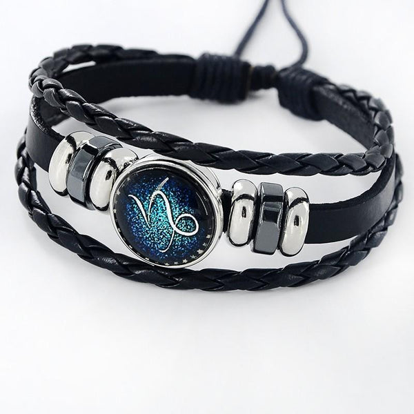Leather Zodiac Bracelets