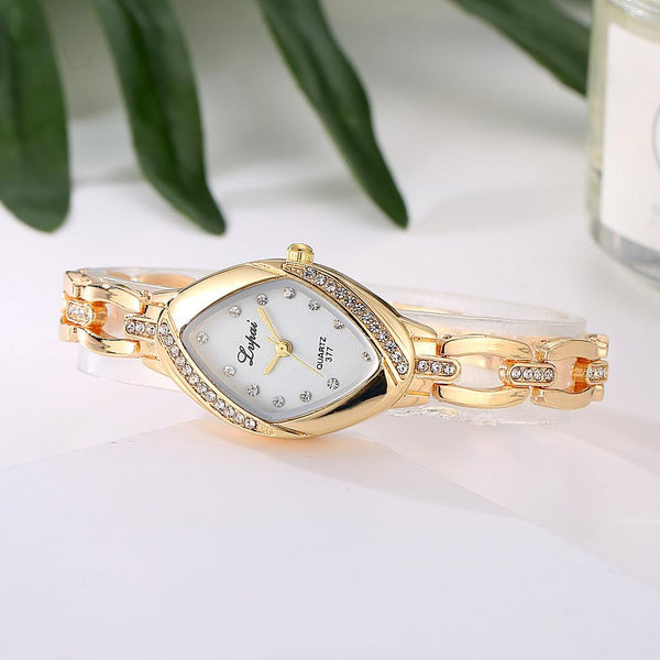 Rhombus Gold Crystal Watch