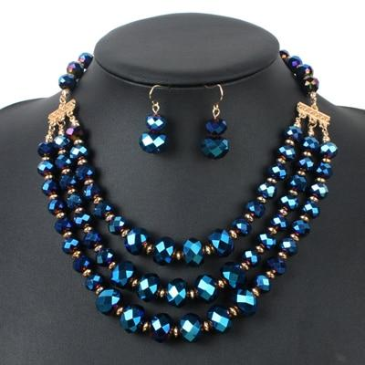Crystal Bead African Styled Jewelry Sets