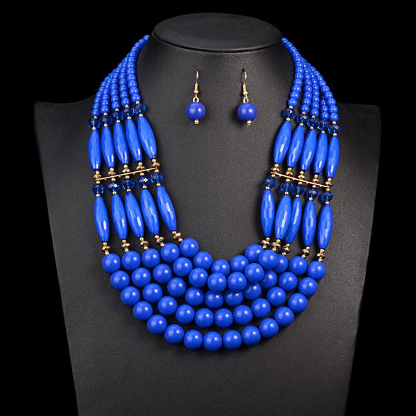 Aztec, Tribal and beaded Necklace and earring sets