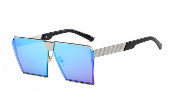 Oversized Square Rimless Sunglasses