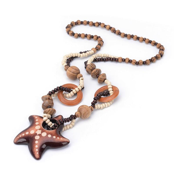 Boho Bead Starfish Necklace