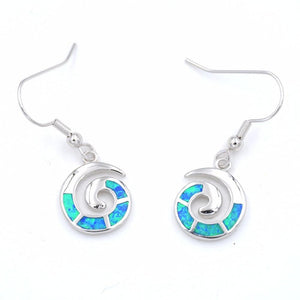 Ocean Shimmer Shell Swirl Earrings