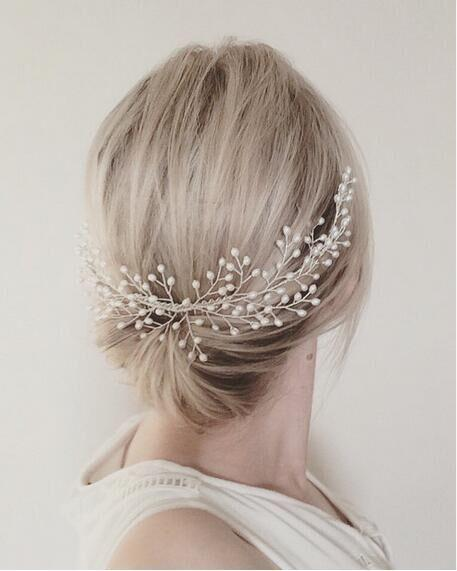 Pearl Branch Hair Slides