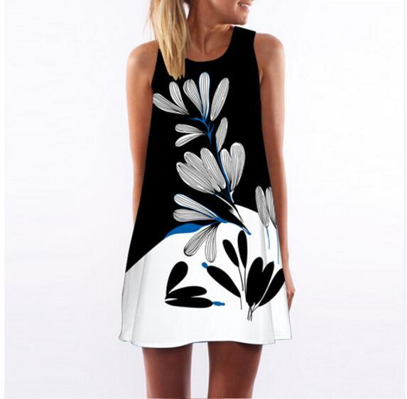 Water Reed Print Dress