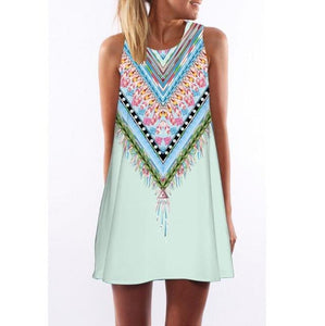 Candy Feather Print Dress